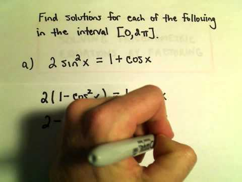 Solving a Trigonometric Equation by Factoring, Example 1