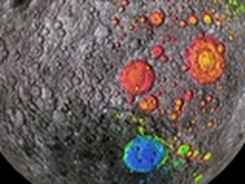 New Moon Crater Video Pops With Color