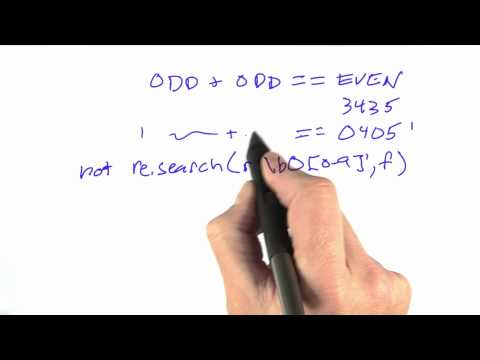 Regular Expressions - CS212 Unit 2 - Udacity