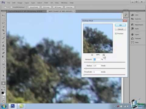 Photoshop CS6 Tutorial: Sharpening your Images