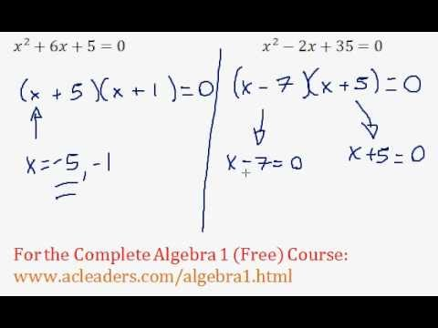Quadratics - Solving by Factoring Question #2