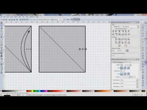 Origami Diagramming using Inkscape (not a tutorial) - Folding thirds