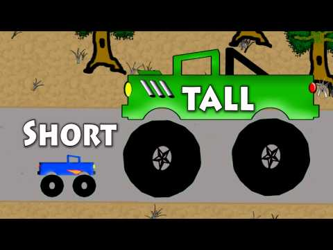 Vids4kids.tv - Short And Tall Monster Trucks