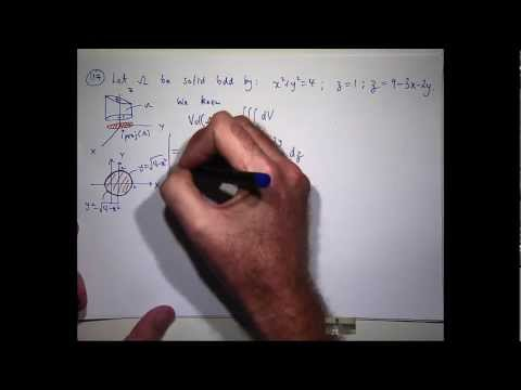 Triple integrals:  How to calculate volume