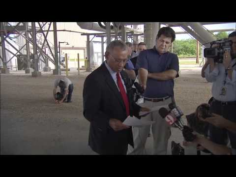 NASA Administrator Bolden Tours Agency's New Mobile Launcher at Kennedy
