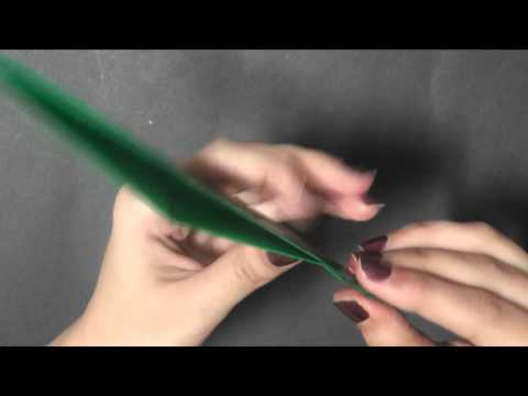 Origami - Let's make a Leaf with Veins