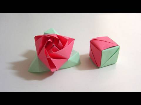Origami Magic Rose Cube (Valerie Vann)