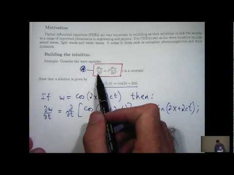 Partial derivatives + PDEs tutorial