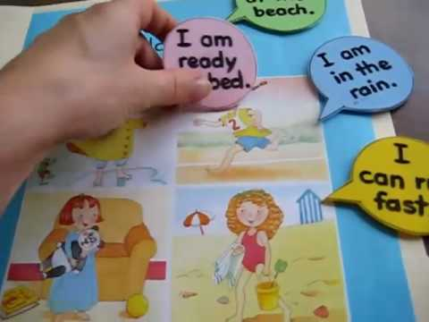 Toddler-Reading. File folder game