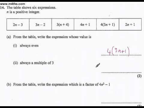 q14 Edexcel Linear Higher June 2011 calculator (quick worked example)