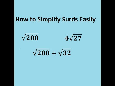 The trick to simplifying surds made easy - GCSE and A-level core 1 maths revision video: