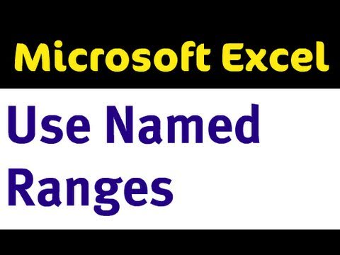 Named Ranges in Excel