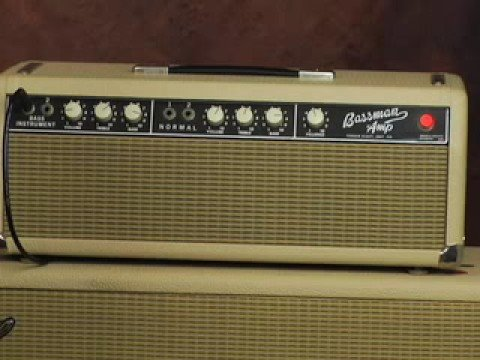 Vintage Fender Bassman guitar amp review Marshall Traynor