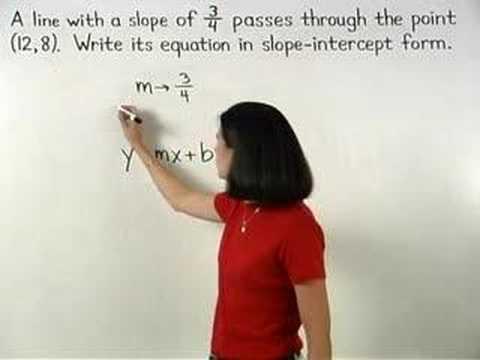 Writing the Equation of a Line - YourTeacher.com - Algebra Help