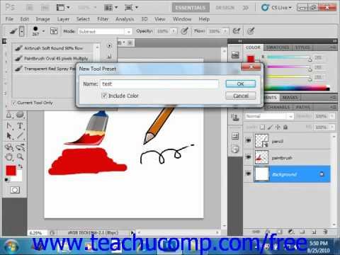 Photoshop CS5 Tutorial The Brush Tool Adobe Training Lesson 5.2