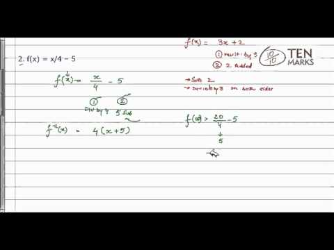 Write Inverse Functions
