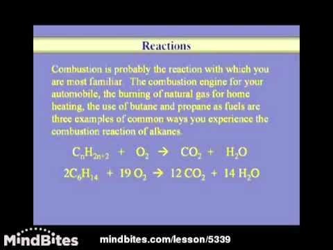 Organic Chemistry Lesson: Alkanes 2