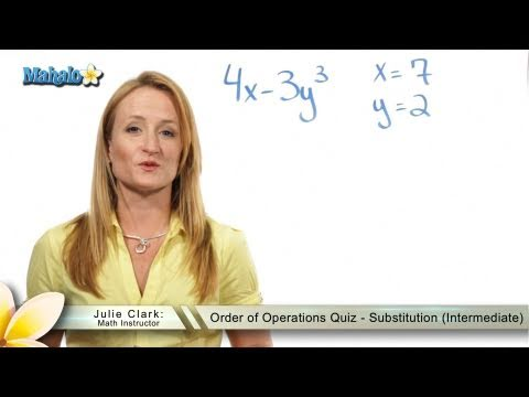 Order of Operations Quiz - Substitution (Intermediate)