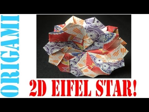 Origami Daily - 250: 2D Modular Eifel Star (12 Unit Coaster) - TCGames [HD]