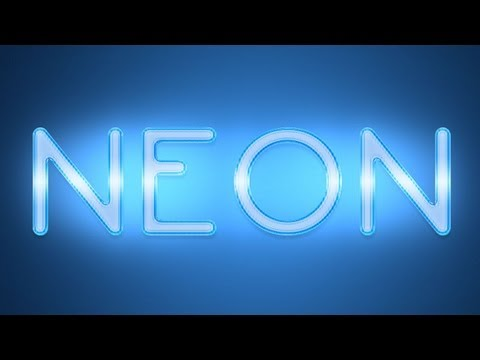 Photoshop: Neon Text Effect