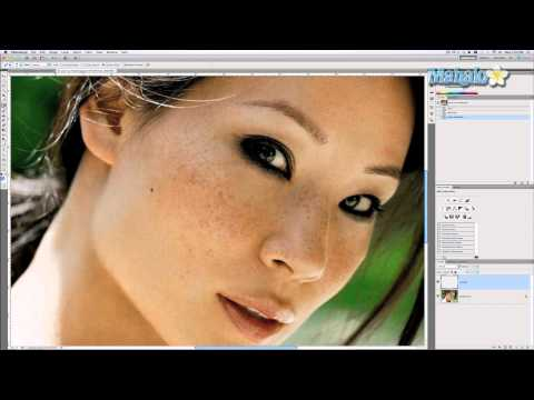 Photoshop Tutorial - Remove Freckles