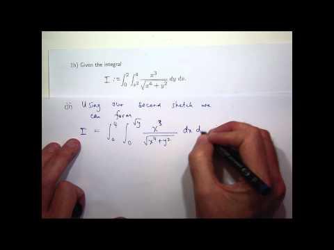 Reversing order: double integrals