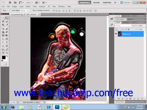Photoshop CS5 Tutorial Filters & the Filter Gallery Adobe Training Lesson 14.10