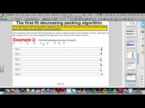 Packing algorithms - First-fit (decreasing) algorithms (Decision Maths 1)
