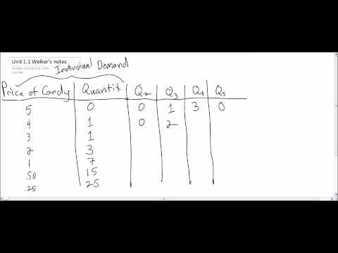 The Law of Demand - video lecture