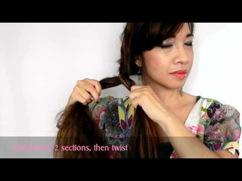Twisted Side Bun Hairstyle In Under 2 Minutes