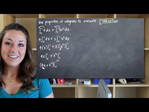 Properties of integrals