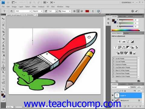 Photoshop Tutorial Entering Text Adobe Training Lesson 11.2
