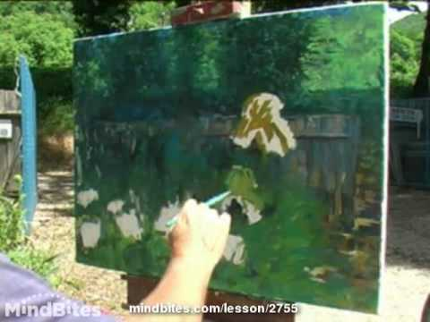 Painting an Oil of Poppies in my garden