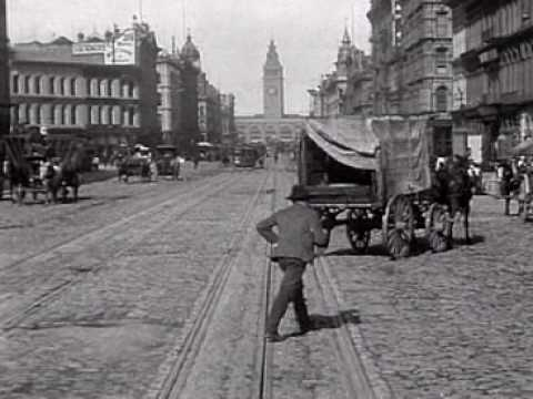 San Francisco Trolley Ride and Street Scenes 1905