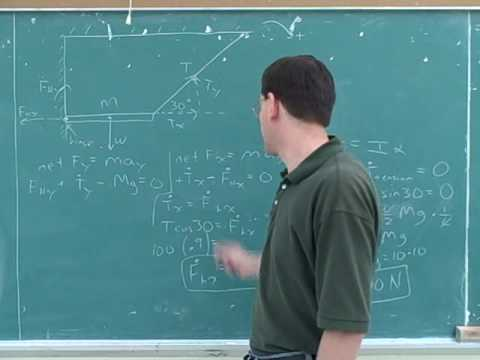 Rotational statics and dynamics problems (2)