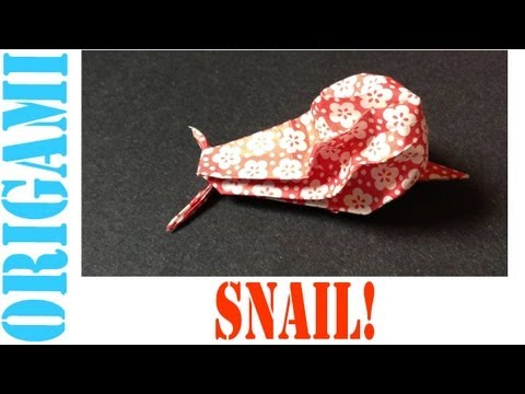 Origami Daily - 205: Snail With Poofy Shell (Napkin or Tissue Fold Origami) - TCGames [HD]