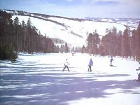 Wide run at Sol Vista Ski Area, Colorado