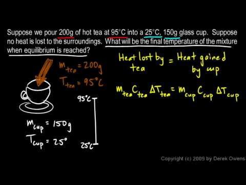 Physics 9.09b - Calorimetry Example 1