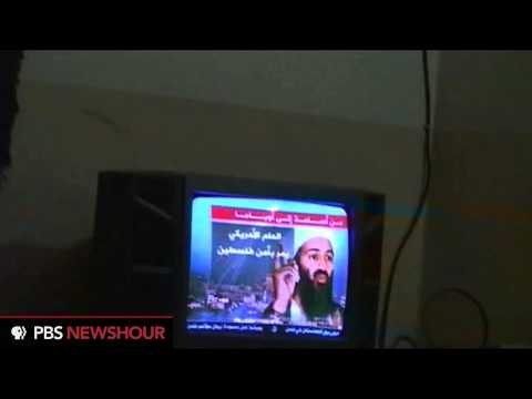 Newly released video shows Osama bin Laden watching television