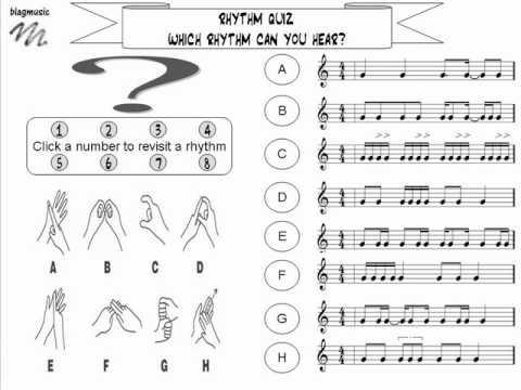 Online Rhythm Quiz