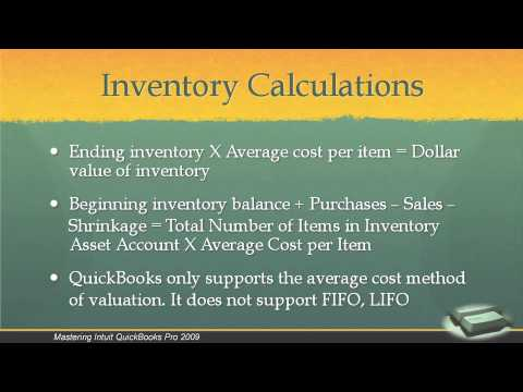 Total Training: Mastering Intuit QuickBooks Pro 2009 Ch8 L1. Inventory Accounts Overview