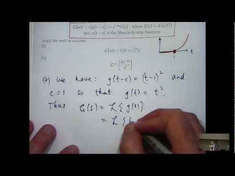 Second shifting theorem: Laplace transforms