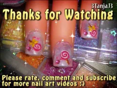 Sweets: *Simple Lollipop Nail Art Design* - Short Nails