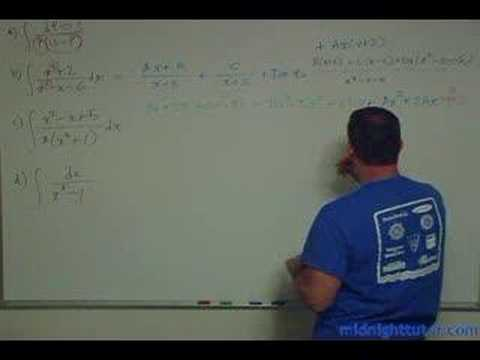 Partial Fractions:  Soup to Nuts Part 2 of 4