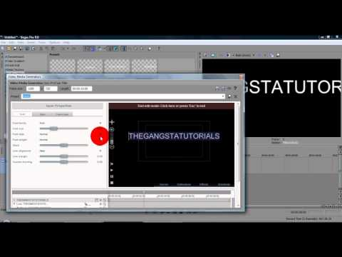 Sony Vegas Tutorial ll Text Effect #3