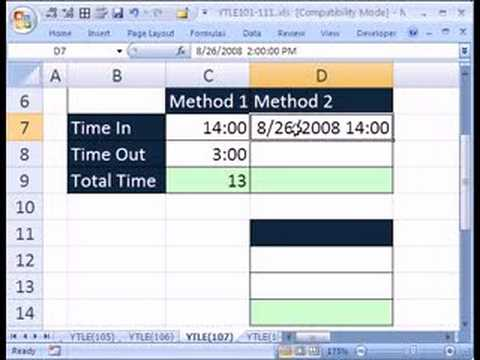 YTLE#107: Excel Time Across 2 Days Trouble