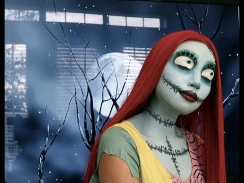 Sally (Nightmare Before Christmas) Make-up look 2