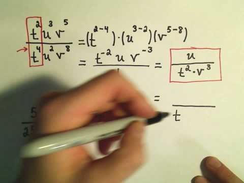 Simplifying Expressions with Negative Exponents - Ex 1