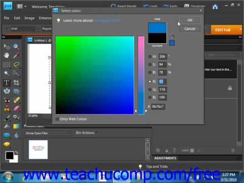 Photoshop Elements 9.0 Tutorial Selecting Text Adobe Training Lesson 11.3
