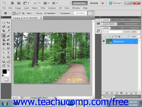 Photoshop CS5 Tutorial The Patch Tool Adobe Training Lesson 14.19